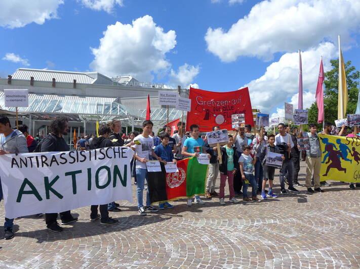 Demonstration gegen Abschiebehaft in Pforzheim  Foto