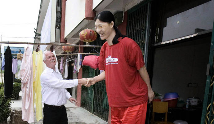 Größte Frau der Welt in China gestorben - 2,36 Meter