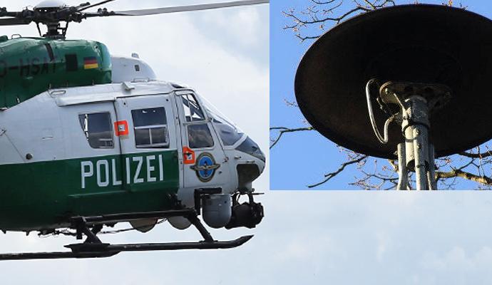 Hubschrauber über Pforzheim Heute