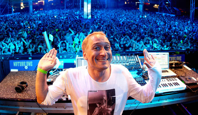 DJ Paul van Dyk beim Techno-Festival «Nature One».