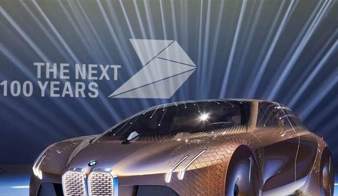 Zukunftsauto Zum 100 Geburtstag Jubilaumsfeier Von Bmw