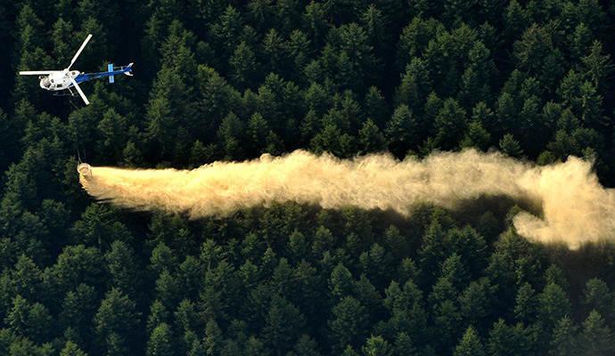 Waldkalkung Mit Hubschraubern Staub Keine Gesundheitsgefahr