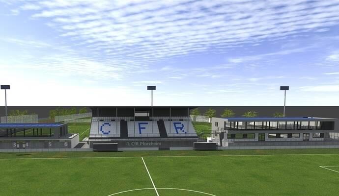 ausbau des stadions des 1 cfr pforzheim vor n chster h rde sport in pforzheim und dem. Black Bedroom Furniture Sets. Home Design Ideas