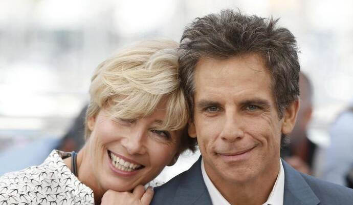 Emma Thompson und Ben Stiller ganz eng in Cannes. Foto: Alastair Grant