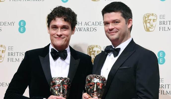 Phil Lord (l) und Christopher Miller bei den British Academy Film Awards 2015. Foto: Andy Rain