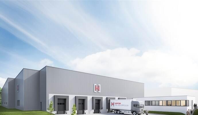 So Wird Das Neue Logistikzentrum Im Nächsten Jahr Aussehen. Foto: Härter