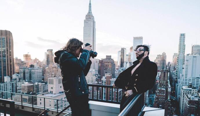 Udo Spreitzenbarth fotografiert in New York Harald Glööckler.