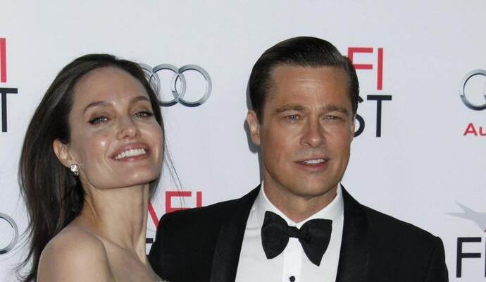 Angelina Jolie und Brad Pitt bei der Premiere von «By The Sea» in Hollywood. Foto: Jimmy Morris