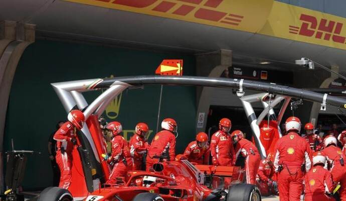 Sebastian Vettel kam in China nur auf Platz acht. Foto: Uncredited/AP POOL