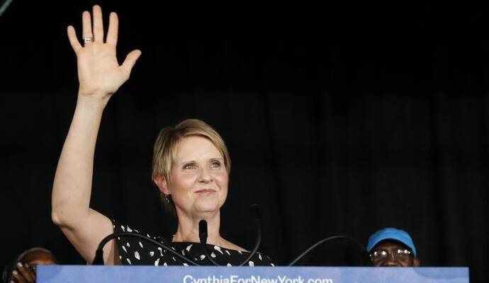 «Sex and the City»-Star Cynthia Nixon ist nach der Wahl-Schlappe nicht entmutigt. Foto: Jason Decrow/AP