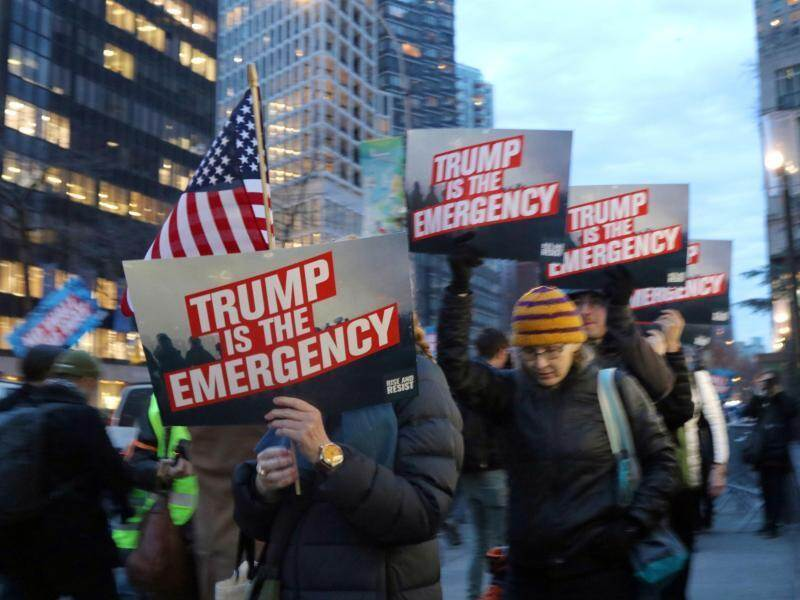 Demonstranten vor dem Trump Tower. Foto: G. Ronald Lopez/ZUMA Wire