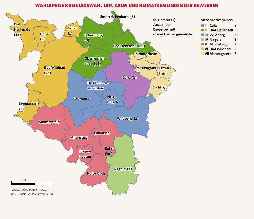 Wahlkreis Calw