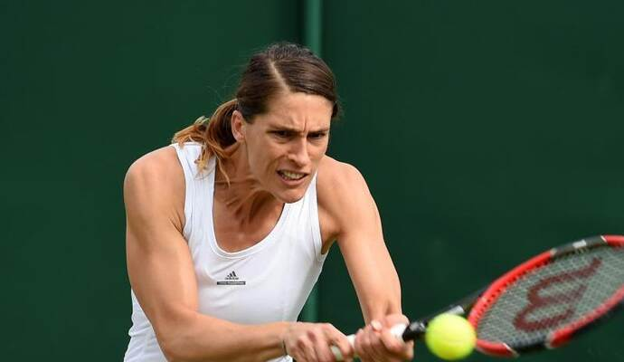 Auch Andrea Petkovic schied in Wimbledon aus. Foto: Gerry Penny/epa