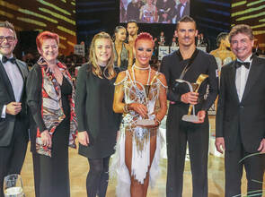 Goldstadtpokal 2020 Finale Int. Latein WDSF World Open Siegerehrung 331