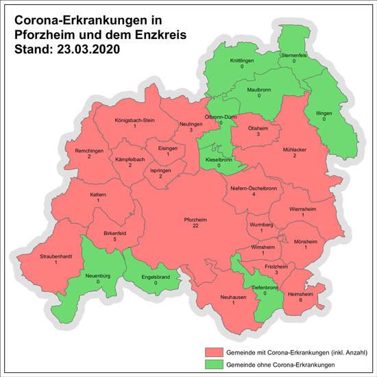 Coronafälle Pforzheim