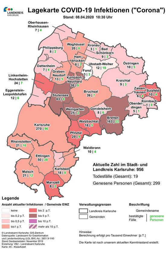 Corona Infizierte Landkreis Karlsruhe