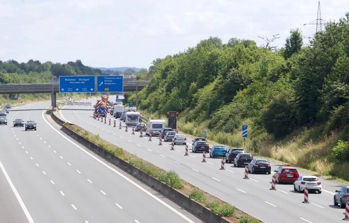 Autobahnsperrung A8