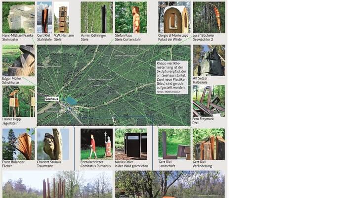 Pünktlich zum warmen Wochenendwetter: Skulpturenweg rund ums Seehaus um zwei Attraktionen reicher