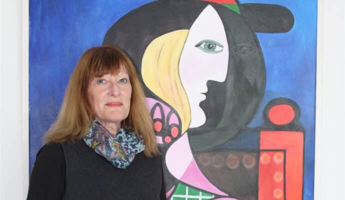 Knittlinger Künstlerin rückt Picasso in die Gegenwart - sie will mit Projekt Mut machen